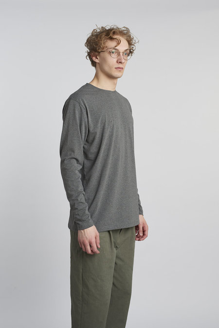Delikatessen Finest Soft Italian Merino Wool and Cotton Long Sleeve Sweatshirt