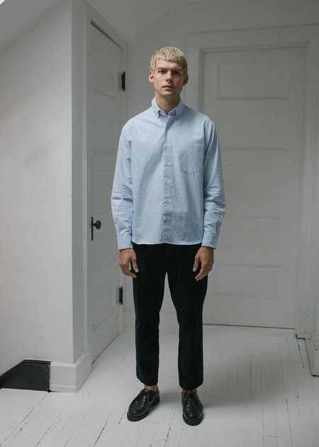 Steven Alan Single Needle Shirt - Light Blue Oxford