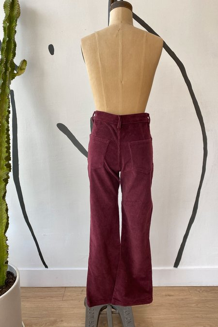 Whimsy + Row Sample Sale Fae Pant - Wine Cord