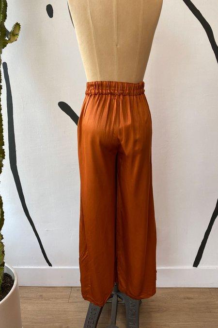 Whimsy + Row Sample Sale Norah Pants - Shiny Rust