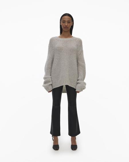 Helmut Lang Alpaca Brushed Sweater - Vapor Heather