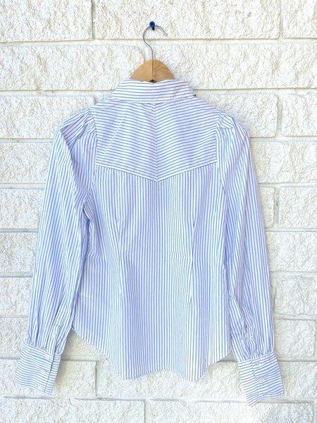 Veronica Beard Verani Shirt - White/Blue