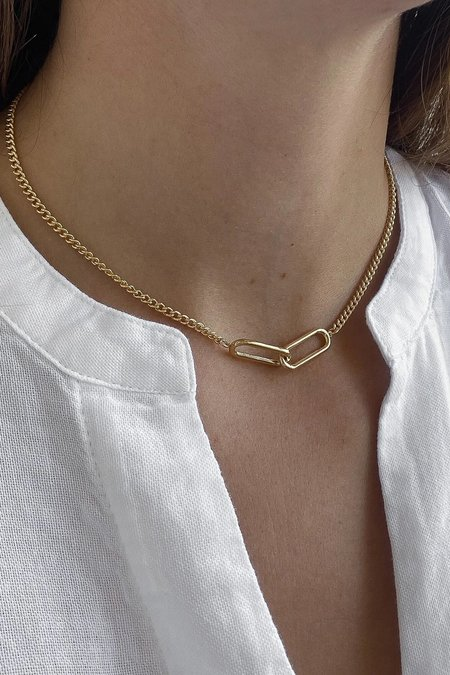 Thatch Lumos Curb Chain Necklace - 14k gold plated