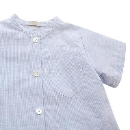 Kids Makie Brett Shirt - Blue Pinstripes