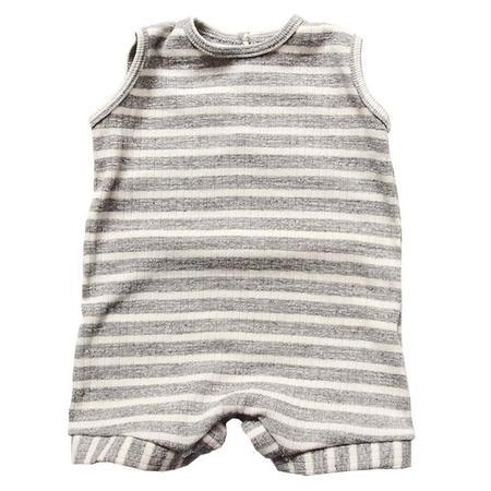 Kids Makie Romper - Carson Grey Stripes