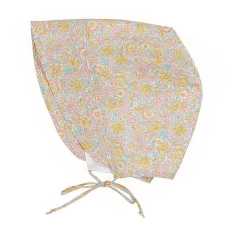 Kids Makie Trish Bonnet - Yellow Floral Print