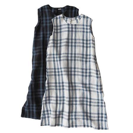 Makie Claudia Sleeveless Dress - Blue Plaid