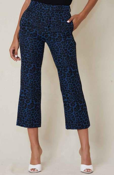 R13 Tuxedo Trouser - Blue Leopard