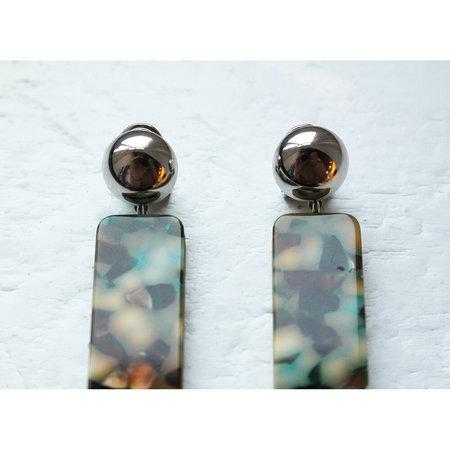 Rachel Comey Maras Earring - Green Multi/Silver