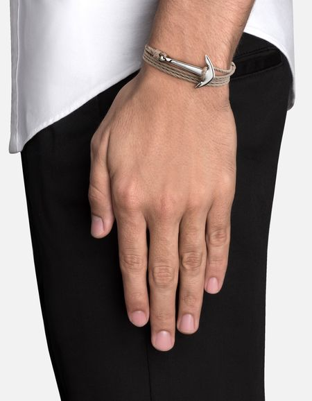 Miansai Anchor On Rope Bracelet - Grey/Silver