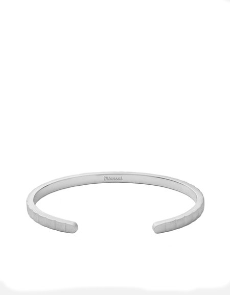 Miansai Etch Cuff - Matte Silver