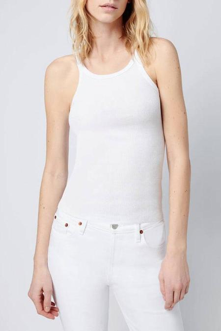 RE/DONE Ribbed Tank - Optic White