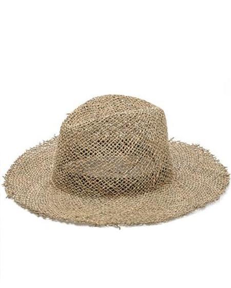 Persons Raffia Open Weave Hat