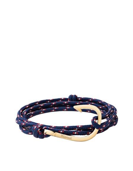 Miansai Hook On Rope Bracelet - Navy/Gold