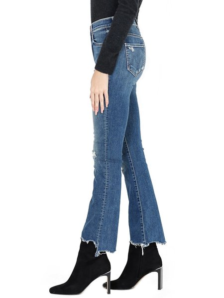 MOTHER The Insider Crop Step Chew Jeans - Dancing On Coals