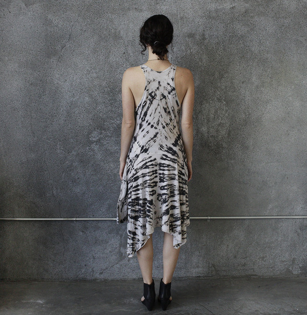 Raquel Allegra Tie Dye Handkerchief Dress