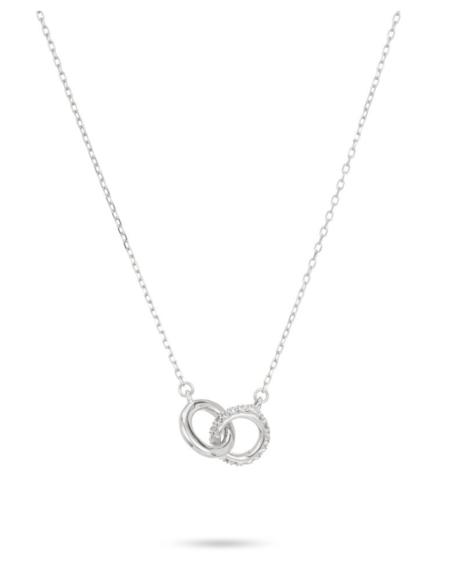 Adina Reyter Pave Interlocking Loop Necklace - Sterling Silver