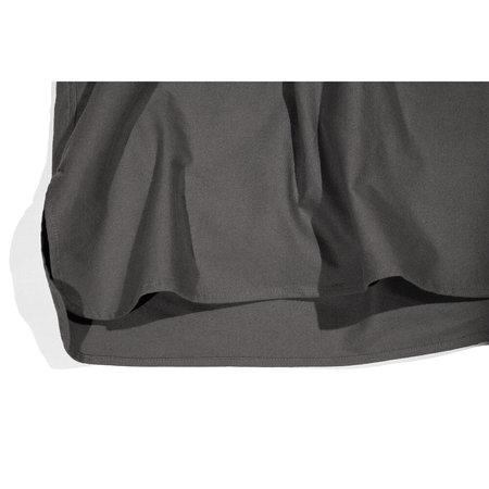 Unisex Blluemade Cotton Flannel French Shirt - Grey