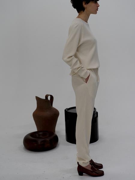Unisex Baserange Rib Sweatpants - Off White