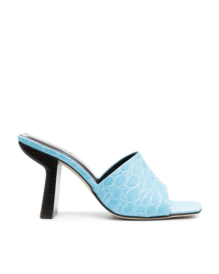 By FAR Liliana Embossed Sandals - Light Blue