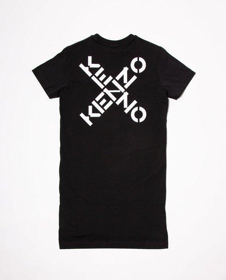 Kenzo Logo Print Dress - black