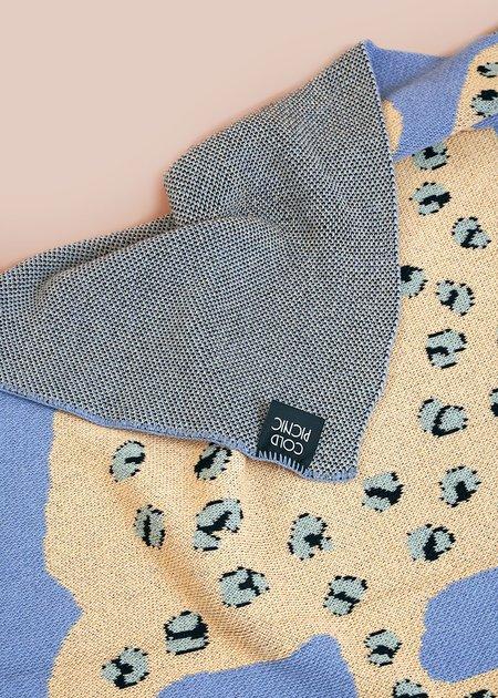 Cold Picnic Sky Leopard Baby Blanket - blue