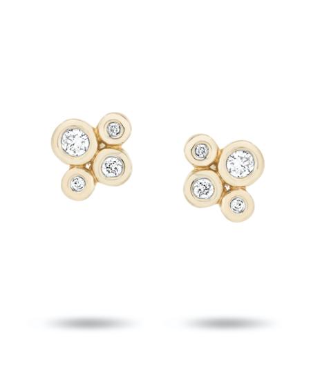Adina Reyter 4 Diamond Barnacle Posts - Yellow Gold