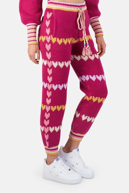 LoveShackFancy Chabela Pants - Warm Heart