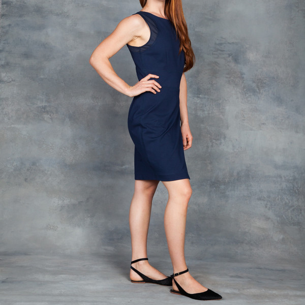 Tart Leah Dress in Navy Ponte