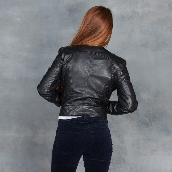 Tart Moto Jacket Black Vegan Leather