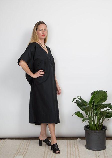 SBJ Austin Kathleen Caftan Dress - Black Poplin