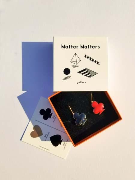Matter Matters Club Earrings - Black/Maroon