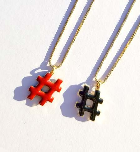 Matter Matters Hashtag Necklace - Black/Maroon