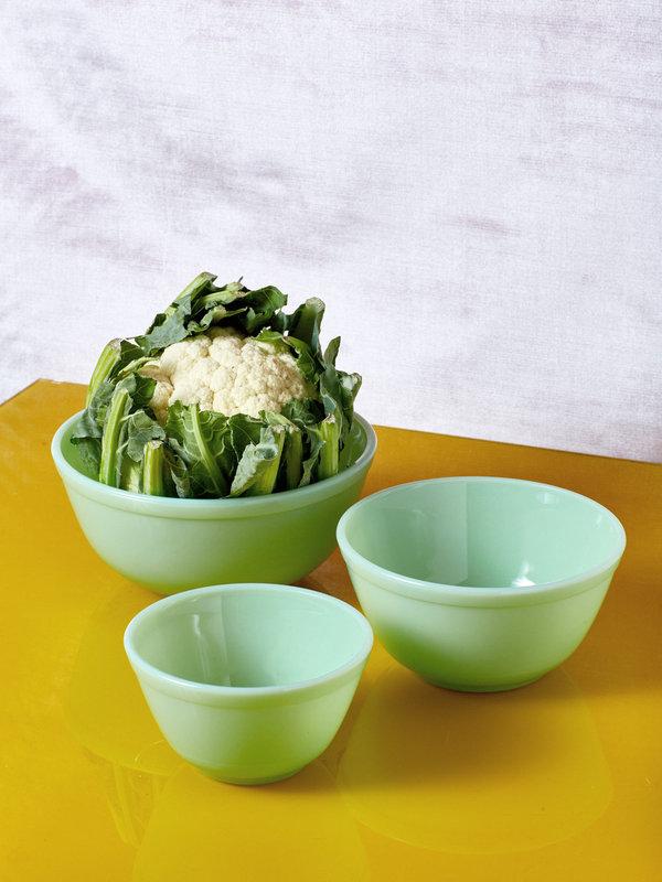 Jadeite Milk Glass Mixing Bowl Set