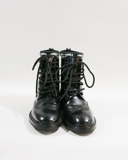 [pre-loved] Christian Dior Tartan D-Order Low Boot - Black