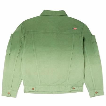 Honor The Gift Gridlock Public Private Oversized Fit Embroidery Jackey - Dip Green