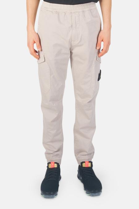 Stone Island Cotton Wool Cargo Pants - Dove Grey