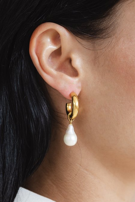 Flash Jewellery Paloma Pearl Hoops 35mm