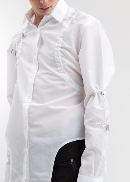 Heliot Emil Drawstring Shirt - White