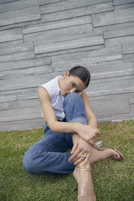 Joomi Lim Two-Part Asymmetrical Crystal Mini Butterfly Earrings - 24k gold/brass