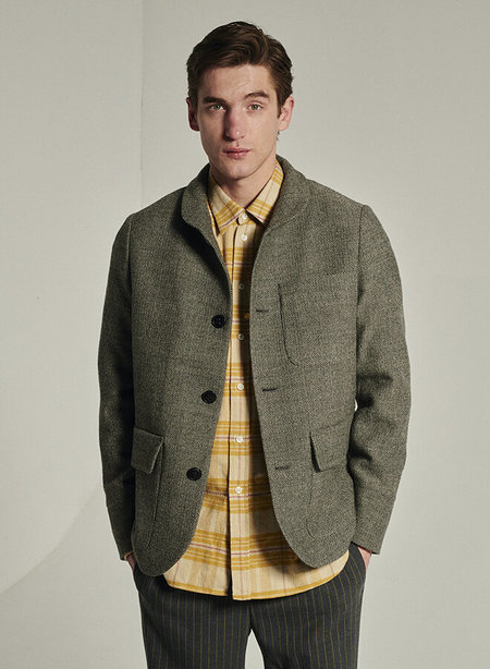 Delikatessen Natural Dyed Sustainable Wool Forest Jacket - Grey/beige