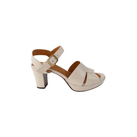 Chie Mihara Stamped Snake Heel - White