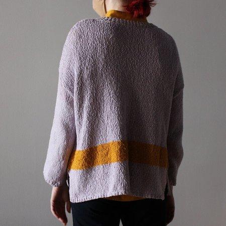 Raquel Allegra V-Neck Collage Sweater - Lilac