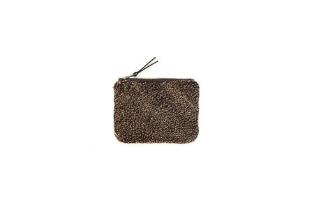 Primecut ARMY GREEN SHEEPSKIN POUCH