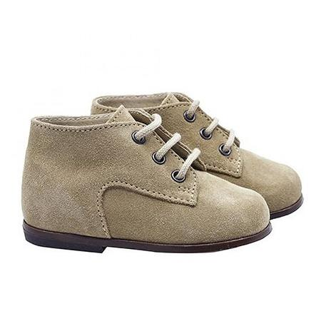 Kids Bonpoint Derby Leather Shoes - Beige Brown
