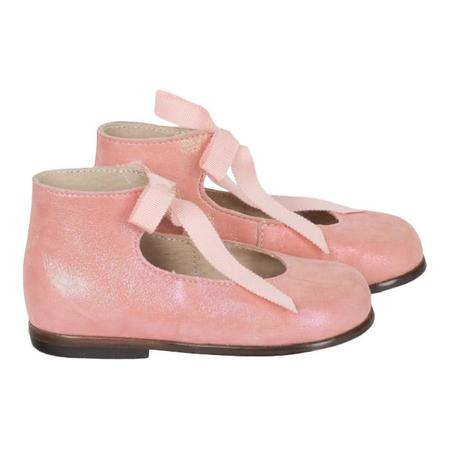 Kids Bonpoint Ghillies First Walker Shoes - Pink