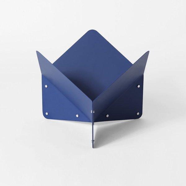 Blue Folded Metal Vessel