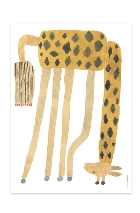 KIDS OYOY UPSIDE DOWN GIRAFFE PRINT