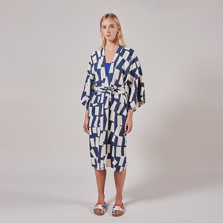 Bobo Choses Kimono Jacket With Shadow Print - Navy Blue