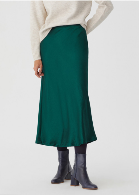 Nice Things Midi Skirt - Forest Green